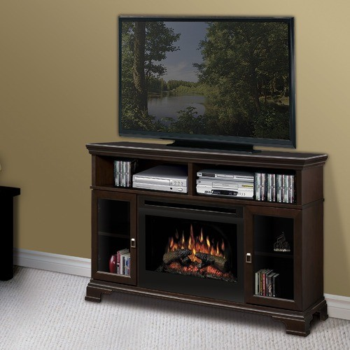 Brookings 53 Tv Stand With Electric Fireplace Modern Entertainment Centers And Tv Stands