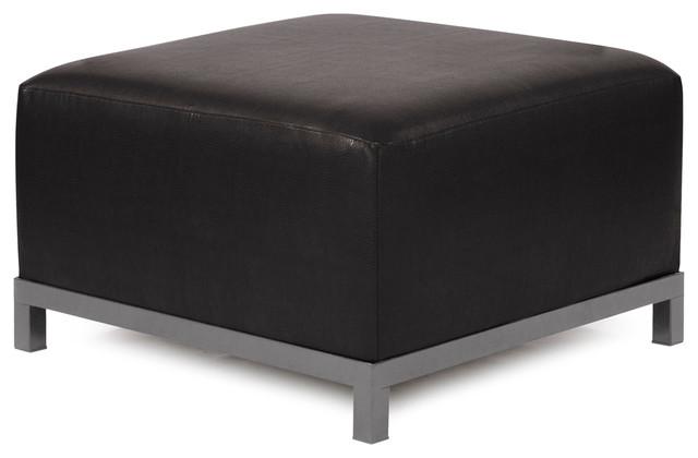 Howard Elliott Avanti Black Axis Ottoman Slipcover modern-footstools-and-ottomans