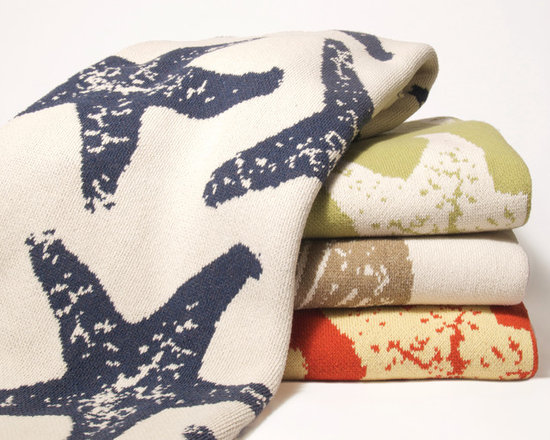 Sea Star Eco KnitThrow - Modern Sea Star throws is knit with a blend of recycled cotton available in an assortment of fresh colors. USA made.