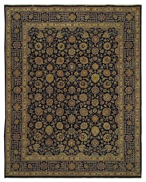 Traditional Haj Jalili 5'x8' Rectangle Navy-Navy Area Rug traditional-rugs