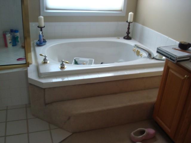 BEFORE- Masterbath Remodel Project contemporary