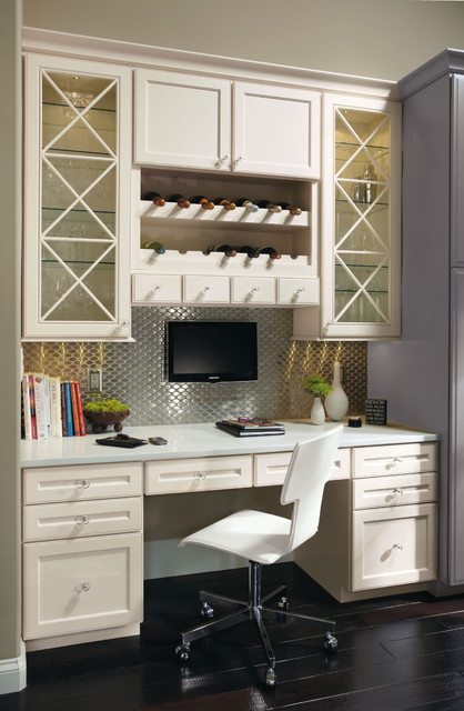 Omega Built In Desk Cabinets Contemporary Desks And Hutches Other Metro By Masterbrand