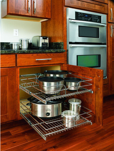 Rev A Shelf In Cabinet Chrome Cabinet Organizer Traditional Kitchen Drawer Organizers By