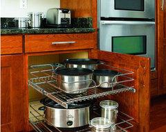 Rev-A-Shelf In-Cabinet Chrome Cabinet Organizer traditional-kitchen-drawer-organizers