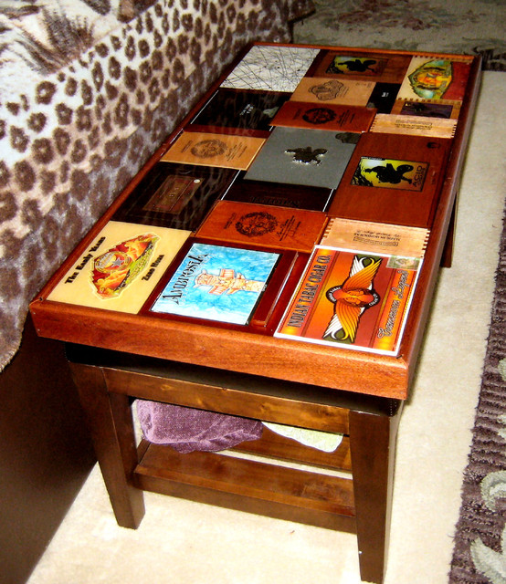 Cigar Box Coffee Table Eclectic Tables