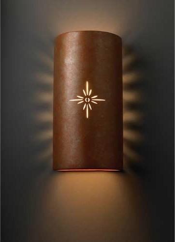 Sun Dagger Rust Sunburst Outdoor Wall Sconce eclectic-outdoor-lighting