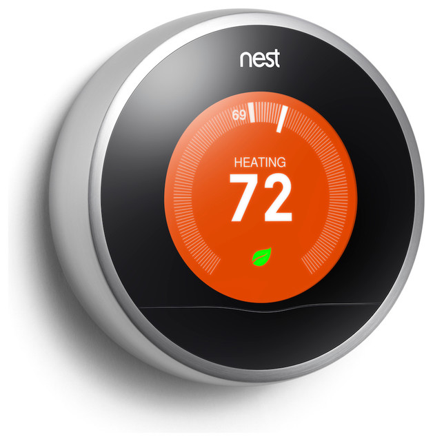 The Nest Learning Thermostat contemporary-heating-and-cooling