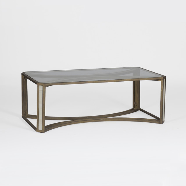 Camille Coffee Table Transitional Coffee Tables Other Metro By Gabby