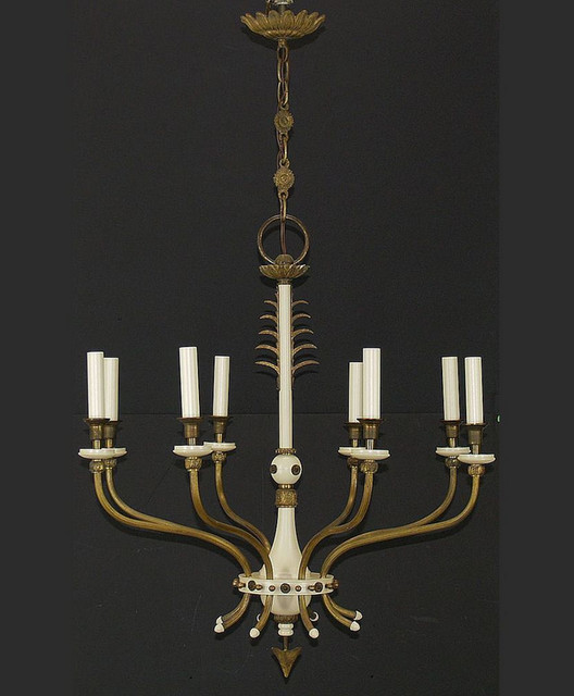 French Country Style Chandelier Arrow Motif
