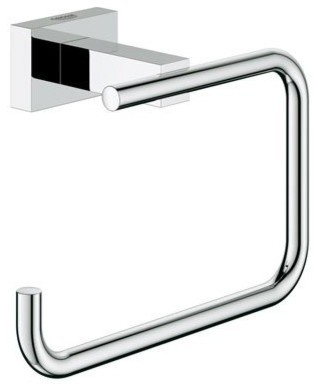 Grohe 40507000 StarLight Chrome Essentials Cube Essentials Cube Tissue contemporary-toilet-accessories