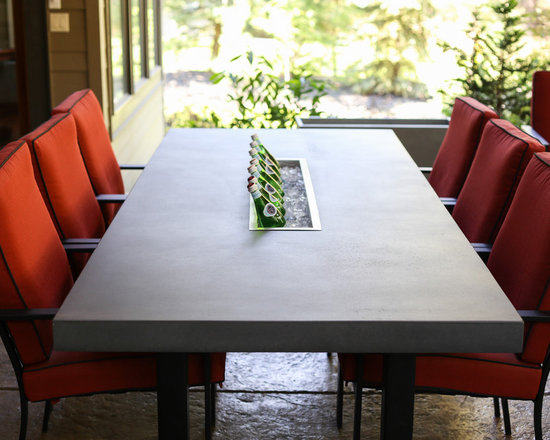 Outdoor Table with beverage chiller -