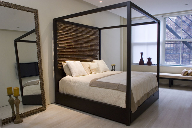 Canopy Bed with Hand tied Bamboo Headboards - Modern - Beds - new ...