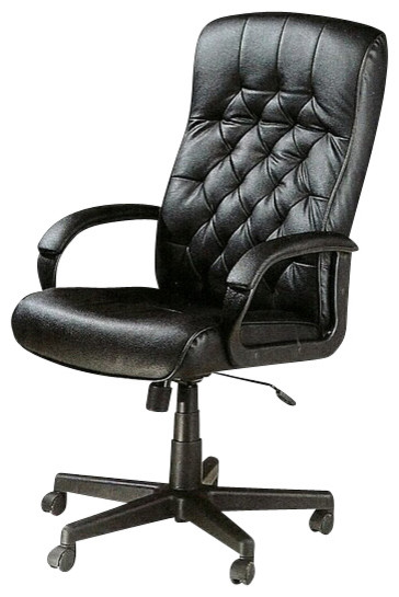 Tufted Back Executive Office Chair with Pneumatic Lift and Casters traditional-task-chairs