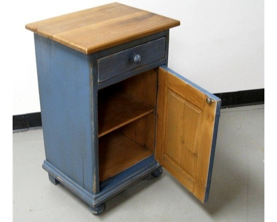 Blue Barn Wood Rustic Nightstand - Made by http://www.ecustomfinishes.com