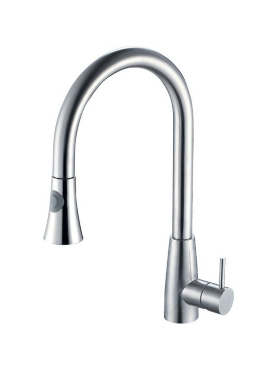 "Alfi - Alfi AB2034 Solid Stainless Steel Pull Down Single Hole Kitchen Faucet - APPLY COUPON CODE ""EDHOUZ20"" AT CHECKOUT. JUST OUR WAY OF SAYING THANKS."