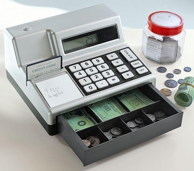 Toy Cash Register : Cash register play money kids toys and games san