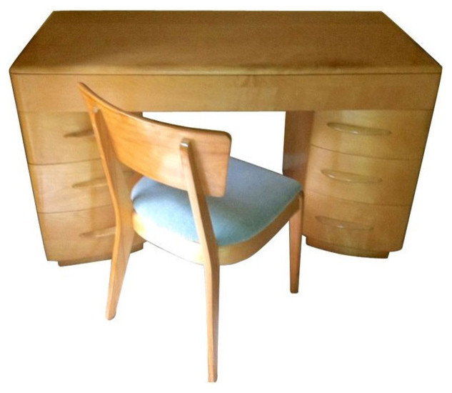SOLD OUT! Heywood Wakefield Kneehole Desk & Chair - $1,700 Est. Retail - $1,250