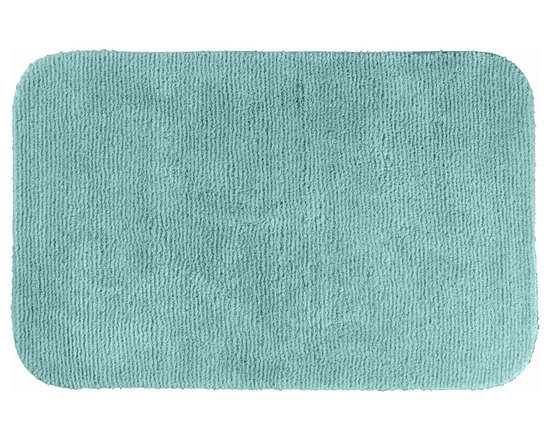 "Sands Rug - Cheltenham Sea Foam Washable Bath Rug (2'6"" x 4'2"") - Add a layer of plush comfort and safety with the inviting Cheltenham bath and spa rug collection. Each piece, whether a bath runner, bath mat or contoured rug, is created from soft, durable, machine-washable nylon. Each floor piece is backed with skid-resistant latex for safety."