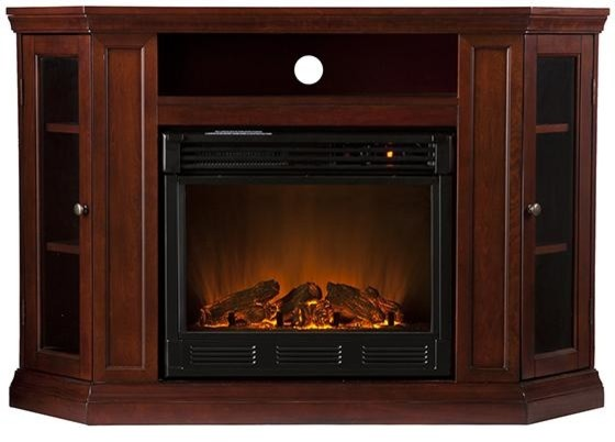 Brentwood Media Electric Fireplace traditional-indoor-fireplaces