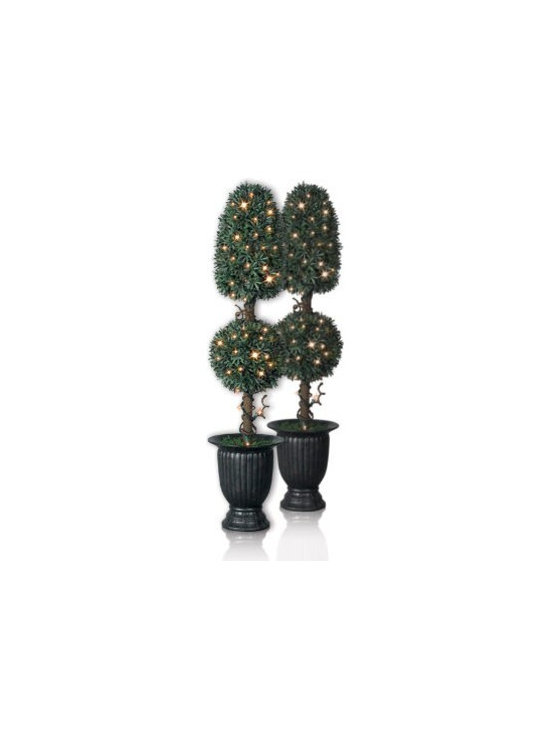 Balsam Hill Myrtle (Royal) Artificial Topiary Trees - A REFRESHING WELCOME WITH BALSAM HILL'S MYRTLE TOPIARY TREES |