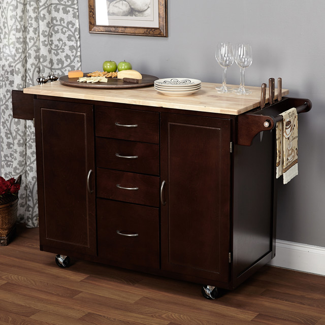 simple living espresso natural country cottage kitchen crosley kitchen cart island by oj commerce 369 00 460 00