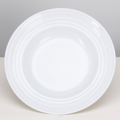 OmniWare Culinary Pro Ware Circles Pasta Plate modern-dinner-plates