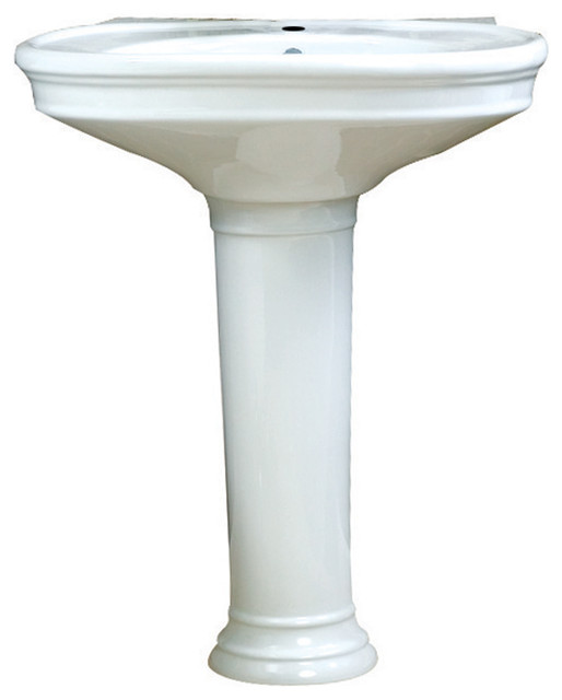 Traditional Bathroom Sink : ... Vitreous China Sink - Traditional - Bathroom Sinks - by PoshHaus