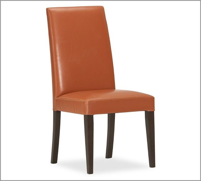 Grayson Side Chair, Orange modern dining chairs and benches