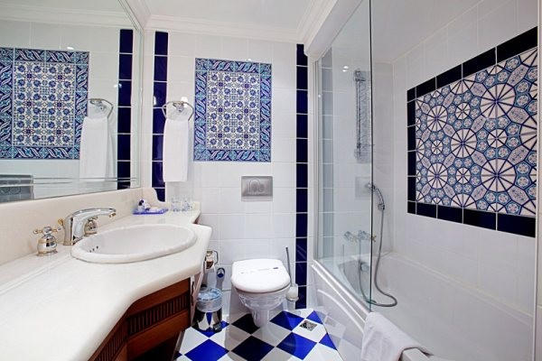 Tumbled Travertine Tile Floor Images How To Tile Bath Wall