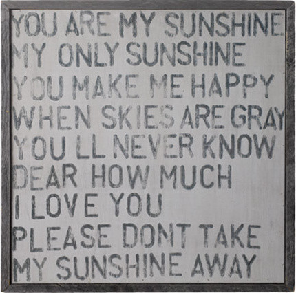 you are my sunshine wall art eclectic-artwork