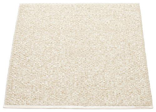 Pappelina SVEA Area Rug Metallic Shine, Champagne/Vanilla traditional-rugs