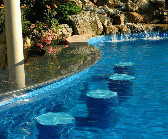 Swim up bars stools long island ny modern other for Pool design swim up bar