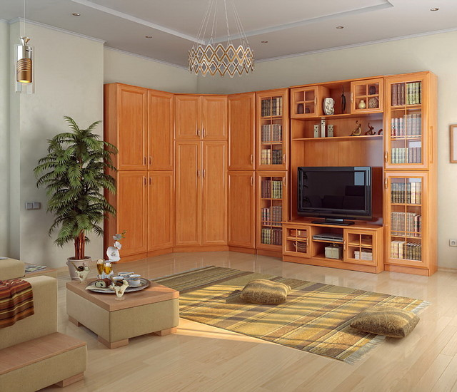 Boston 8 Pc Corner Display Wall Unit Contemporary Entertainment Centers And Tv Stands New