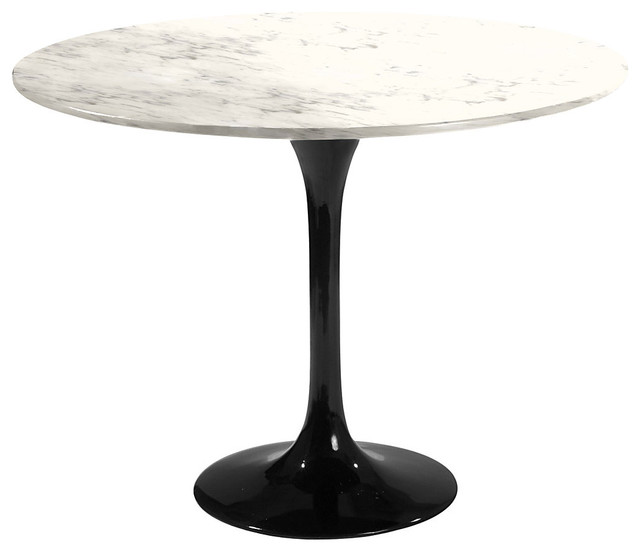 60quot Round Saarinen Table Black Base Coated Carrara  : midcentury dining tables from www.houzz.com size 640 x 552 jpeg 28kB