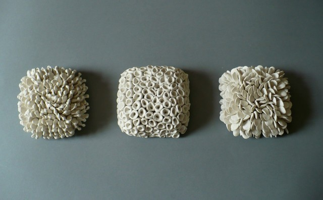 Set of 3 Micro Tiles by elementclaystudio eclectic artwork