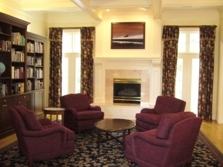 Traditional Library with Area Carpet traditional-family-room