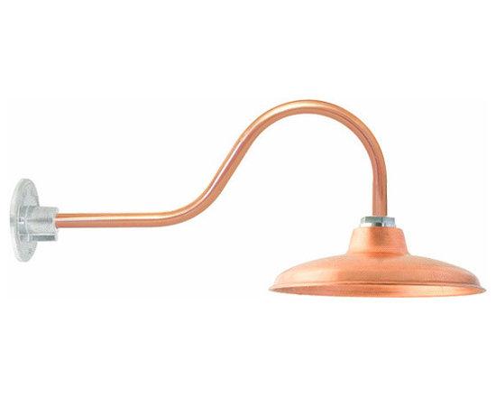 Maritime Copper Gooseneck Light -