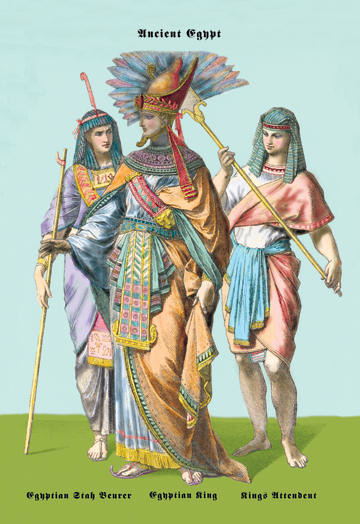Egyptian Staff Bearers, Egyptian King 20x30 poster contemporary-prints-and-posters