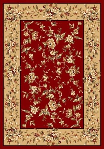 Cambridge Red/Beige Floral Rug modern-rugs