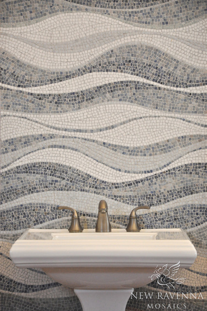 Mirage Stone Mosaic Contemporary Tile Other Metro