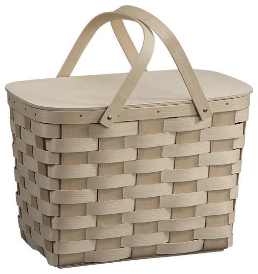 Woven Picnic Basket traditional-baskets