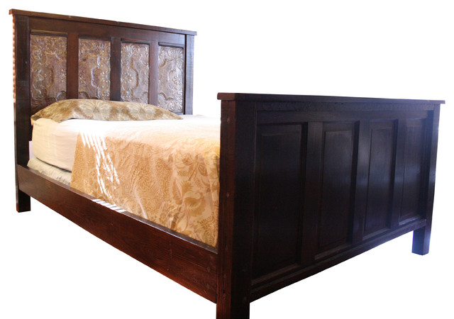 New Orleans Inspired Queen King Bed Made From Cypress Doors And Reclaimed Wood Traditional Panel