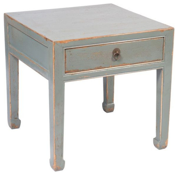 Distressed Blue Coffee Table: SOLD OUT! Distressed Eggshell Blue End Table By Four Hands