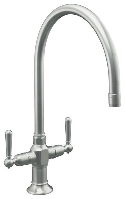 Kohler Hirise Kitchen Faucet Eclectic Kitchen Faucets Other Metro By Rebekah Zaveloff