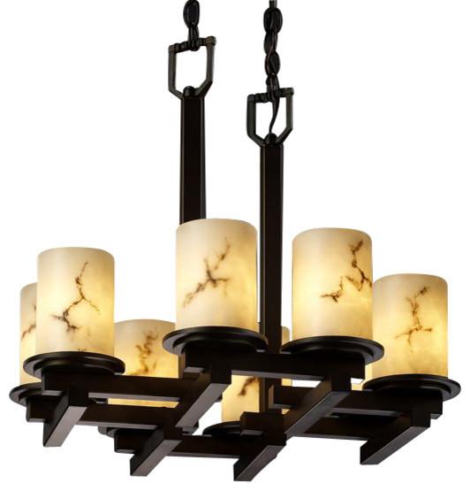 Dakota Transitional Zig-Zag Chandelier transitional-chandeliers