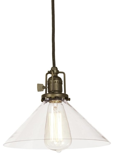 Clear Glass Cone Industrial Pendant - Pendant Lighting - by Shades of ...