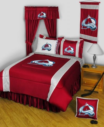 Colorado Avalanche NHL Sidelines Complete Bedroom Package - Queen sheets
