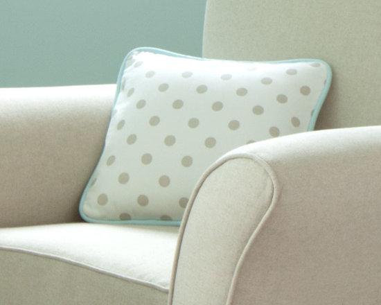 Taupe Zig Zag Decorative Pillow -