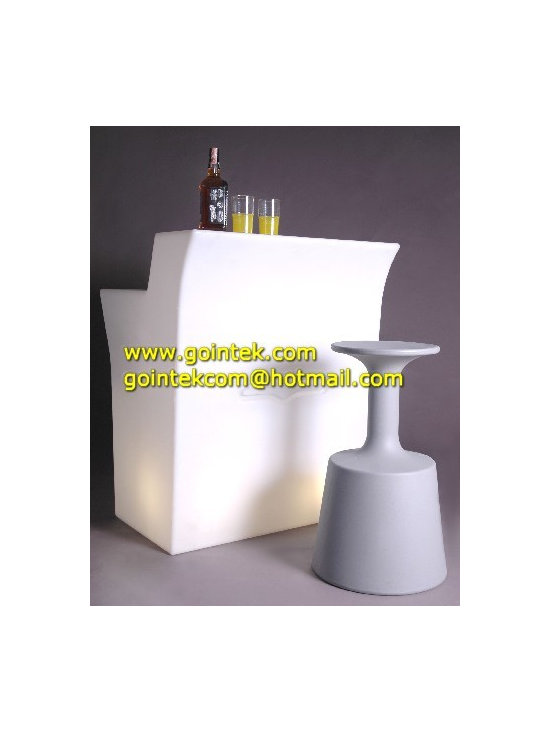 Illuminated LED Bar Counter with Rechargeable Battery -