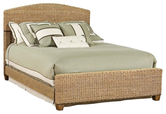 Tropical cabana banana bed set queen traditional beds by lamps plus - Seagrass platform bed ...